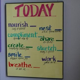 dry erase daily checklist